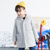 【2件2.5折后到手价:242.25元】马拉丁童装冬季新款男女童中大衣保暖儿童中长款外套