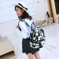 Miffy米菲 春夏新款时尚潮流印花迷彩双肩包 女背包旅行电脑包书包