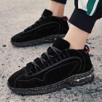 男鞋冬季潮鞋2018新款韩版男士休闲黑色运动跑步潮流百搭男生鞋子