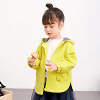 【券后�A估�r:221】�R拉丁童�b小童�l衣2020秋季新款卡通口袋��性下�[女童�B帽衫上衣