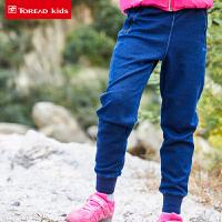 【到手价:85元】探路者儿童卫裤 秋冬户外女童休闲卫裤QAMG94103