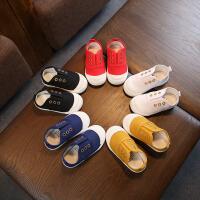 春秋季男女童小白鞋 儿童帆布鞋休闲鞋板鞋 透气布鞋幼儿园室内鞋