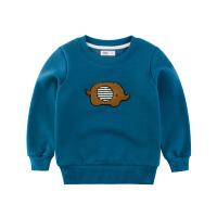 儿童秋冬款男童卫衣1一3岁加绒2薄绒45小童6套头长袖男宝衣服