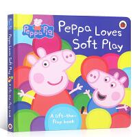 顺丰包邮 英文原版绘本Peppa Pig小猪佩奇 Peppa Loves Soft Play 佩奇爱软体玩具 粉红猪小