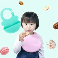 宝宝吃饭围兜硅胶围兜立体口水巾婴儿喂食围嘴防水儿童食饭兜