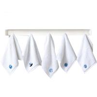 5条装儿童方巾纯棉加厚洗脸小毛巾柔软吸水男女士白色小方巾纯棉洗脸帕 5条装