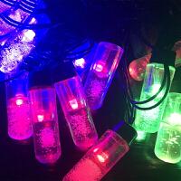 户外节日装饰灯 50米20灯彩色LED 彩灯闪灯串灯气泡柱双闪圣诞婚庆酒吧