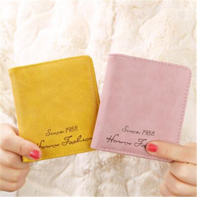 茉蒂菲莉 女士钱包 搭扣短款韩版新款磨砂皮简约学生复古学生钱夹 简约 磨砂