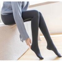 打底袜女秋冬加绒加厚外穿黑色踩脚肉色连裤袜韩版连脚厚款打底裤