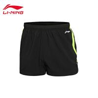 李宁运动短裤男士跑步系列速干夏季凉爽梭织运动裤AKSL041