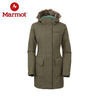 marmot/土拨鼠秋冬新款户外防水防风透气保暖女中长款J78230