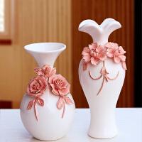 陶瓷花小瓶花插婚房装饰品摆件结婚礼品情人礼物书房卧室摆设饰品