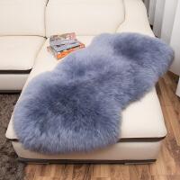 羊毛地毯卧室羊毛沙发垫欧式飘窗垫床边地毯皮毛一体羊皮垫k