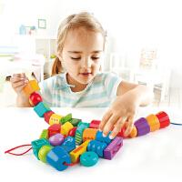 Hape奇妙串珠套3-6岁儿童玩具宝宝启蒙智力益智积木多功能玩法婴幼玩具木制玩具E8305