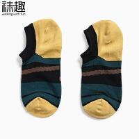 袜子男船袜春夏季薄款男士运动短袜个性潮男街头低帮学院风棉