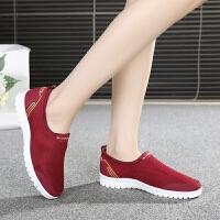 老北京布鞋春季健步鞋女单鞋中老年软底妈妈鞋老人鞋防滑运动鞋子