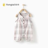 0-1岁男女宝宝无袖薄款连体衣爬爬服夏季新款棉婴儿衣服