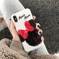 迪士尼授权蝴蝶结米妮 iphone xs max手机壳 xr 苹果x手机壳正版卡通8plus女款 7/8plus 蝴蝶