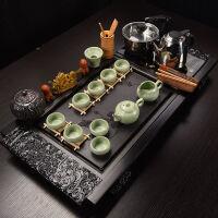 功夫茶具套装家用全自动实木茶盘托盘紫砂泡茶壶茶杯陶瓷配件