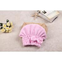 浴帽包头洗头快速干发帽毛巾擦头发加厚吸水长发儿童 粉红色 干发帽