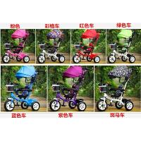 儿童三轮车脚踏车童车宝宝1-3-5岁小孩自行车婴儿手推车 透明 钛空轮留言颜色