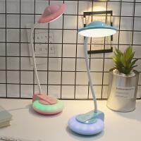 LED护眼台灯充电学生宿舍卧室学习阅读书桌触摸迷你夜灯