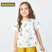 巴拉巴拉童装女童衬衫短袖小童宝宝夏装新款韩版儿童衬衣女