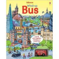 英文原版 Wind-up Bus发条轨道书:巴士(木板书)进口原版