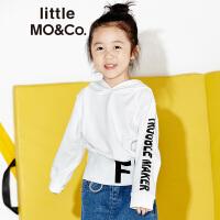 littlemoco男女童装纯棉长袖休闲字母图案连帽卫衣KA171SWS205 moco