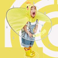 kk树飞碟雨衣网红儿童雨衣男女童斗篷式雨披宝宝雨伞帽幼儿园小孩学生