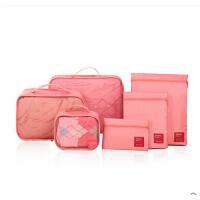 居家旅游便携收纳 旅行收纳袋6件套旅游行李箱整理包便携衣服内衣物整理袋套装