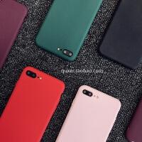 iphone6纯色手机壳苹果x简约酒红色保护套iphone7plus外壳iphone8 iphone x酒红