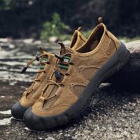 夏季登山鞋男户外休闲鞋男士舒适轻便徒步鞋透气网鞋