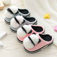 儿童棉拖鞋秋冬新款小中童毛鞋软底防滑宝宝居家厚底棉鞋