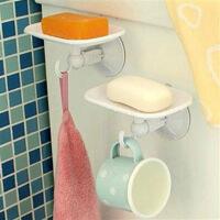 双庆家居 吸盘沥水香皂盒壁挂式肥皂架 SQ-1916香皂盒单层创意厨房肥皂架香皂架吸盘皂盒