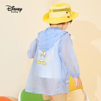 迪士尼童装儿童男童卡通中长款皮肤衣夏中小童防晒服外套轻薄透气