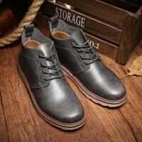 马丁靴男士短靴中帮男靴子冬季保暖加绒雪地棉靴高帮男鞋棉鞋皮