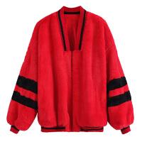 女装毛茸茸卫衣女潮欧美嘻哈开衫网红毛毛绒外套女女可爱秋冬款加厚保暖宽松卫衣女