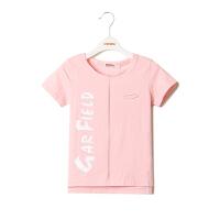 【专区59元3件】加菲猫男童字母印花短袖套头T恤GTW17202