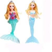 美人鱼玩具公主女孩人鱼公主芭芘比娃娃美人鱼娃娃爸比娃娃生日 30-50厘米