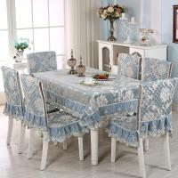 餐桌布椅套椅� 套�b茶��A桌�L方形布�餐桌椅子套罩��s�F代�B�w +