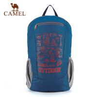 camel骆驼户外双肩背包 男女款休闲徒步旅游双肩休闲背包