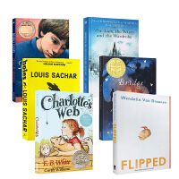 英文原版 原著小说文学6册Charlotte's web/Flipped/Wonder/FRINDLE/Holes/L