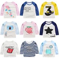 儿童春装长袖T恤婴儿纯棉衣服宝宝上衣