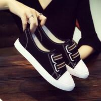 春夏天鞋子女式布鞋休闲鞋高初中学生板鞋少女生帆布鞋平底韩版