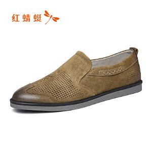 红蜻蜓男鞋休闲皮鞋秋冬休闲鞋子男凉鞋WHL8250