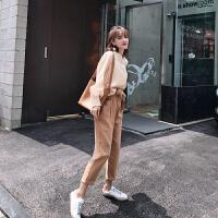 卡贝琳女2019新款秋季轻熟风女装套装港味时尚气质很仙的洋气网红裤子两件套秋
