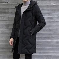 羽绒服男中长款2019流行新款韩版潮男式男款青年修身男士冬季外套