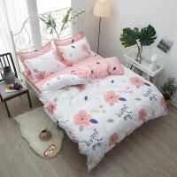 网红四件套全棉纯棉床上用品1.5米被套被罩1.8m床单人三件套学生