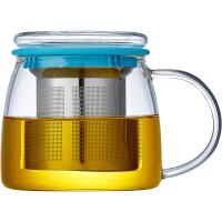 家用水杯过滤创意茶杯耐热泡茶花茶玻璃杯韩国办公室简约杯子